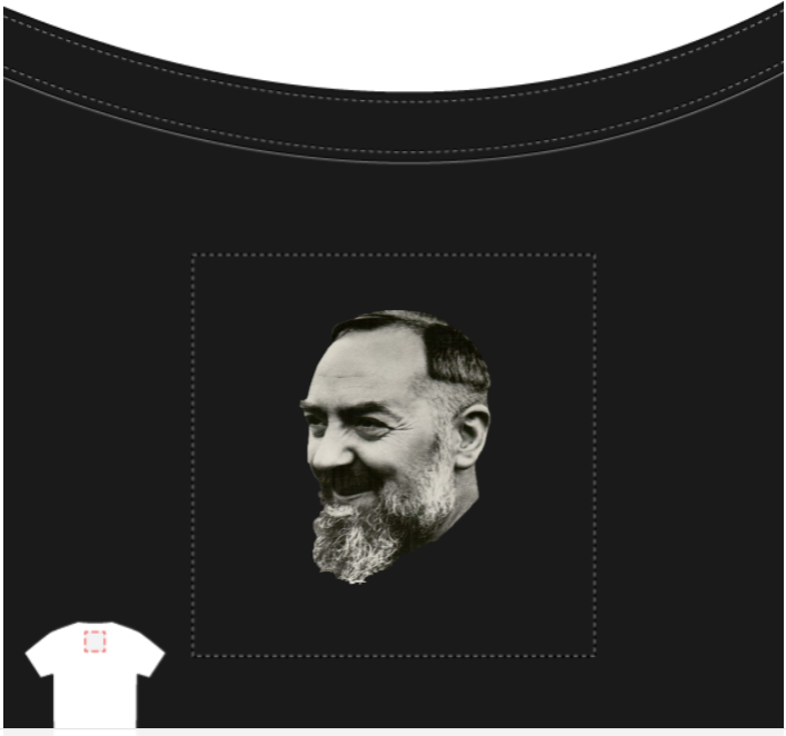 Serve the Lord Laughter Padre Pio T-Shirt