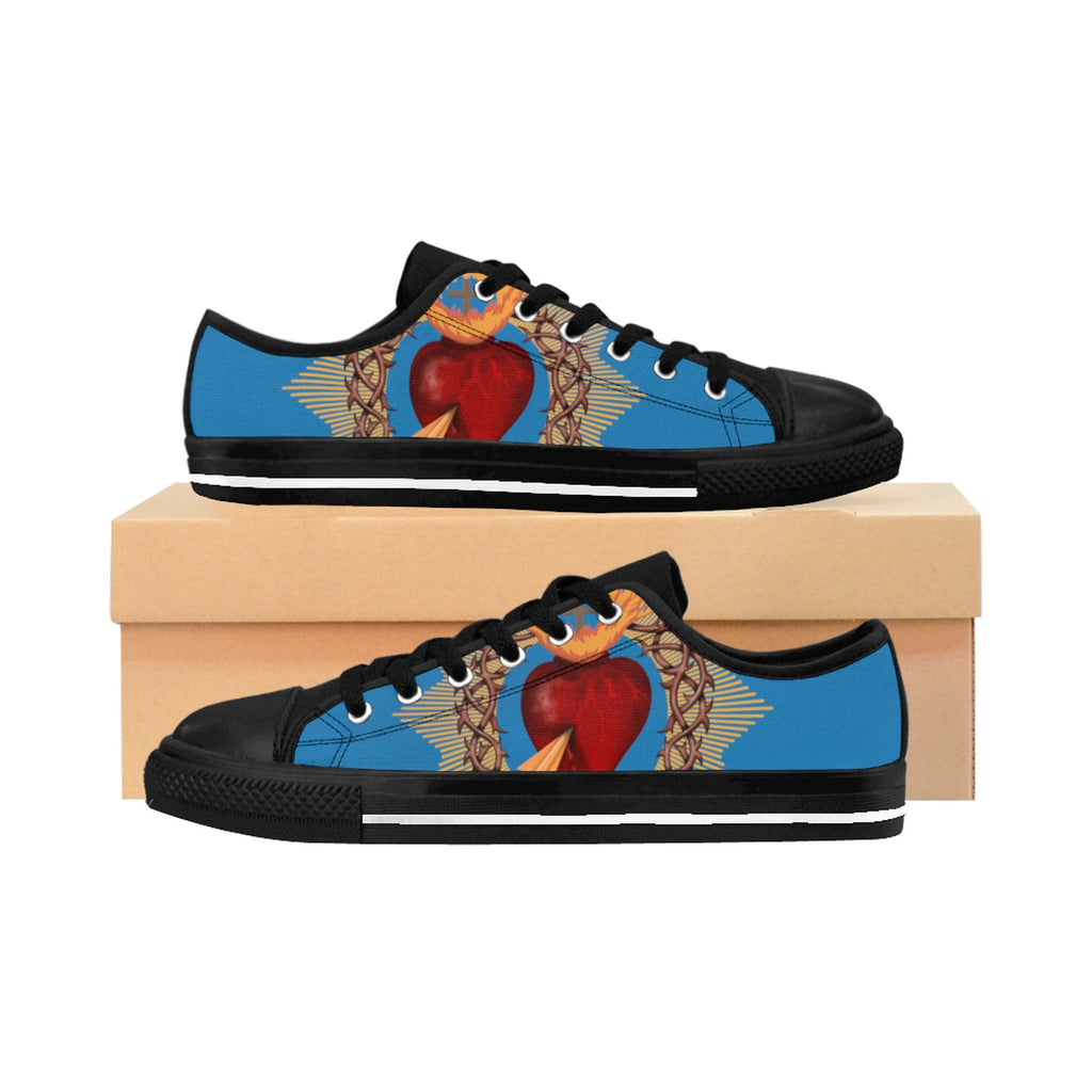 Women's Sacred Heart Blue Sneakers