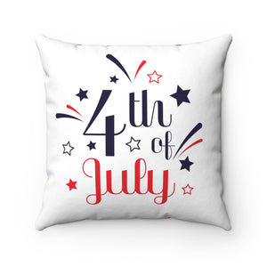 Independencd Day Spun Polyester Square Pillow
