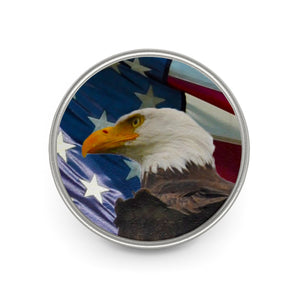 Eagle Flag Metal Pin