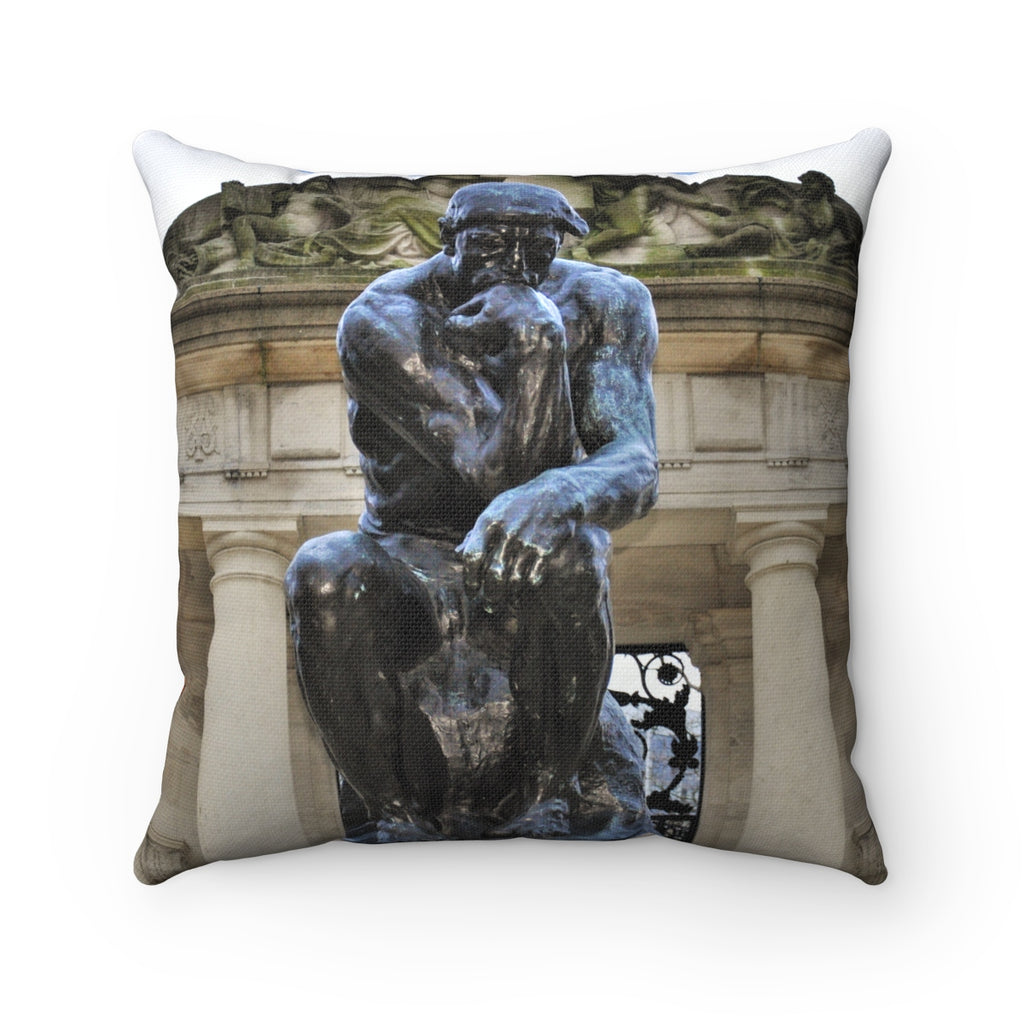 Double-Sided Philly Museum/Statue Spun Polyester Square Pillow