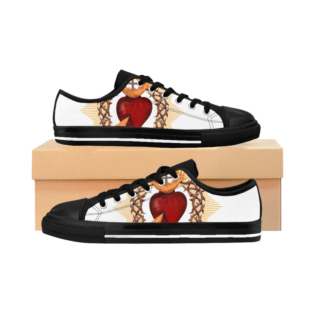 Women's Sacred Heart White Sneakers