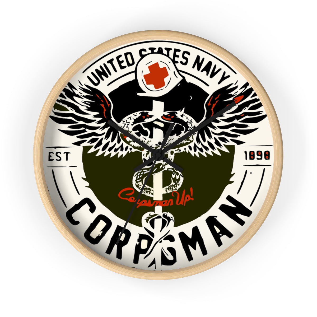 Navy Corpsman Wall clock