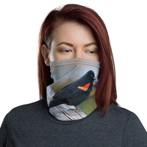 Red Winged Black Bird Neck Gaiter