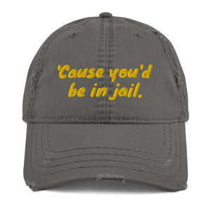 Jail Distressed Dad Hat