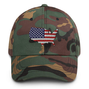 American US Flag Dad hat