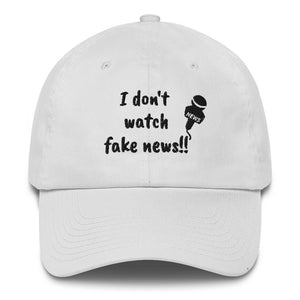I Don't Watch Fake News Cotton Cap