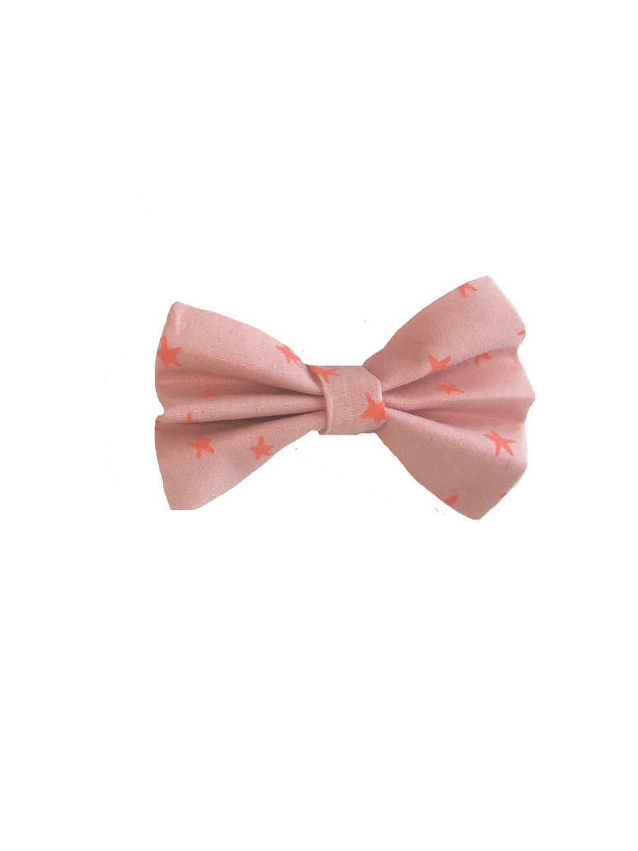 Stars Bow Tie - Pink
