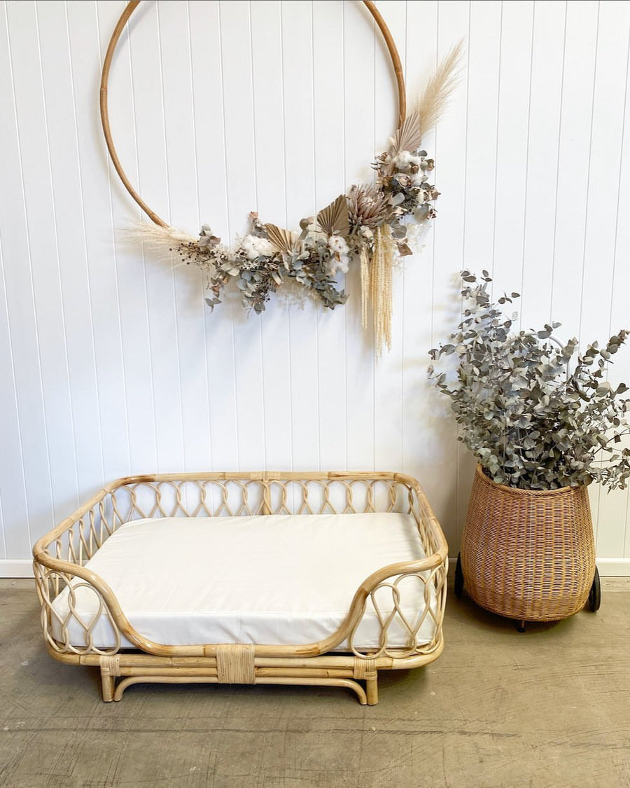 Willa Rattan Bed | Large