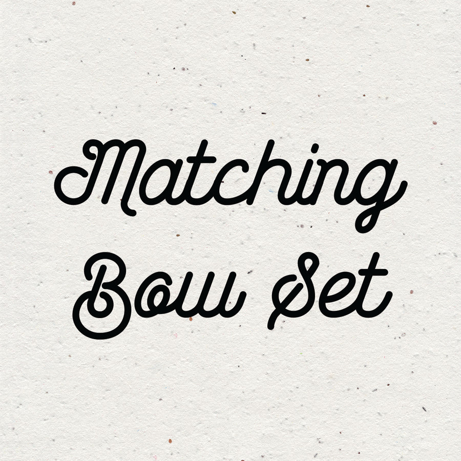 Matching Bow Set