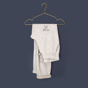 slim-fit Jog Pant, light grey Melange