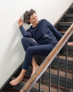 slim-fit Jog Pant, navy Blue