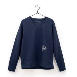 boxy Sweatshirt, navy Blue