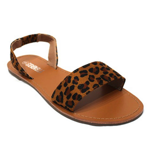CRAZY CLOSEOUT! Adorable Ankle Strap Leopard Sandals