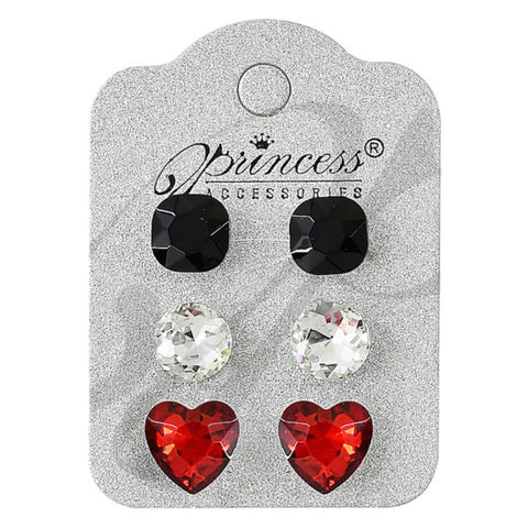 Set of 3 Crystal Earrings - 6 Choices