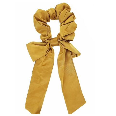 Adorable Silk Scrunchies with Bow Tail