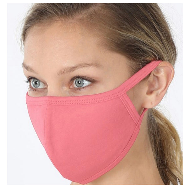 Keeping it in Style! Solid Rose Face Mask with Filter Pocket