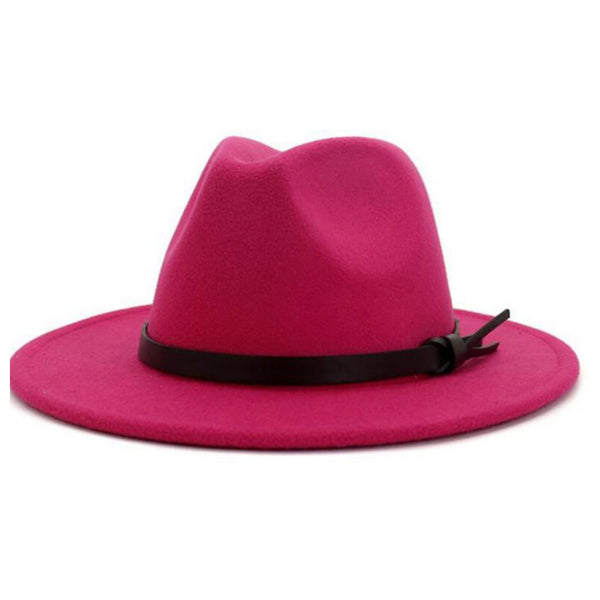 Stunning Wide Brim Red or Pink Fedora Hats