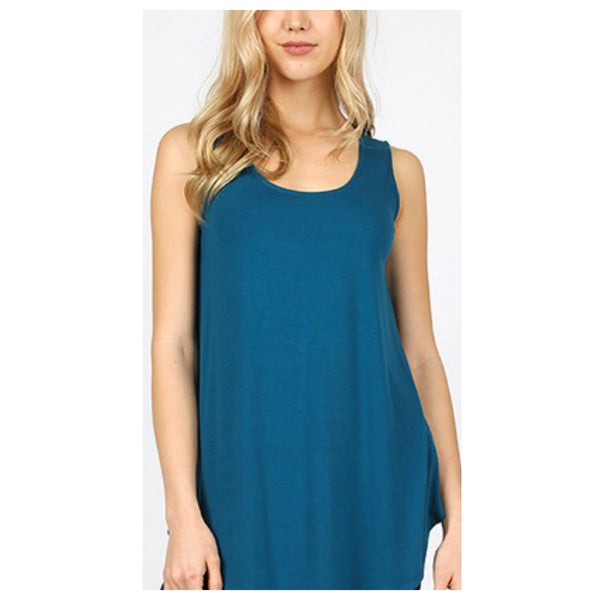 Cozy Me! Relaxed Fit Sleeveless Top - Teal