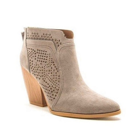 SPECIAL! Adorable Grey Block Heel Bootie Boot by Quipid