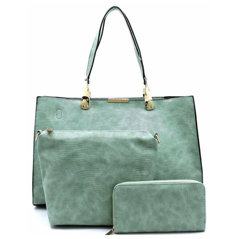 3 in 1 Modern Mint Satchel with Cross Body Bag and Wallet