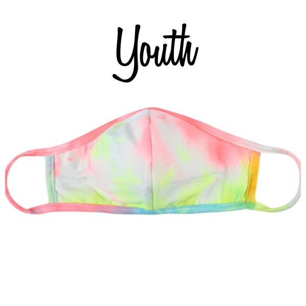 Youth Tie Dye Face Mask - Covid 19