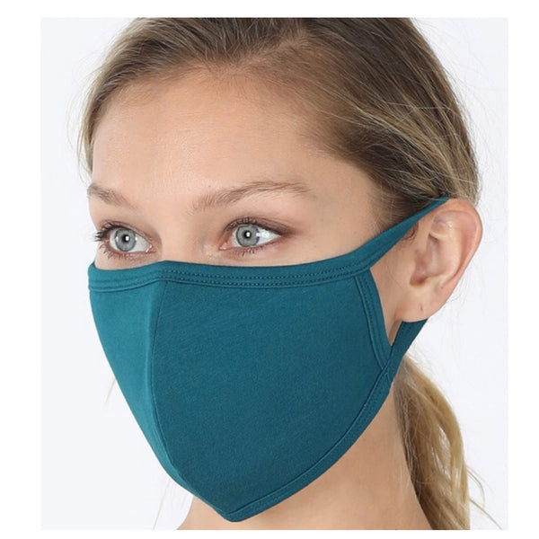 Keeping it in Style! Solid Teal Face Mask with Filter Pocket