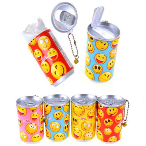 Adorable Emoji Pop Can Sanitizing Wipes Keychain