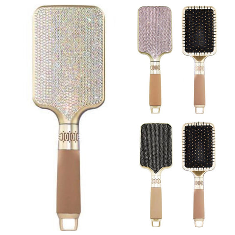 SANTAS LITTLE HELPER SPECIAL! Rhinestone Crystal Air Cushion Silicone Handle Brush