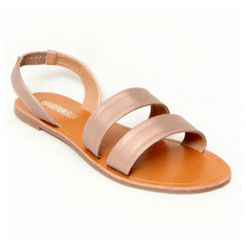 CRAZY CLOSEOUT! Cute Double Wrap Back Strap Sandals - Grey
