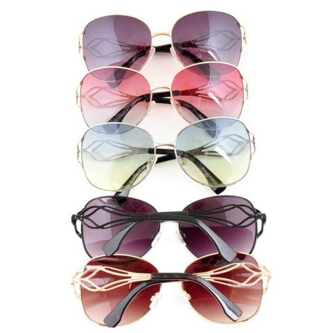 Fun in the Sun! Crystal Accent Fashion Sunglasses