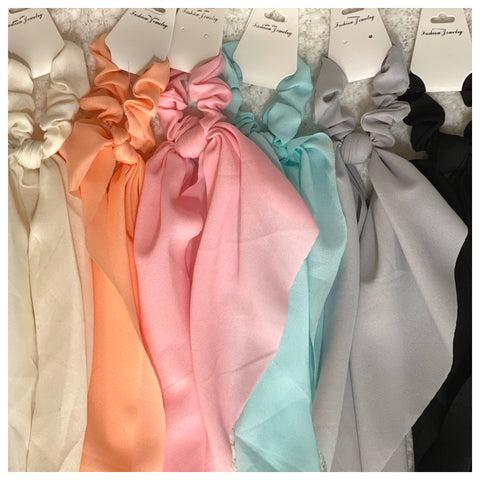 Adorable Chiffon Scrunchies with Long Tail