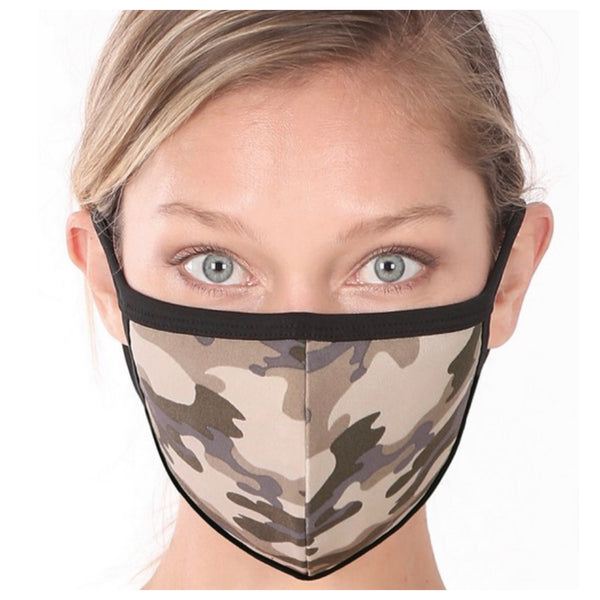 Keeping it in Style! Dusty Camouflage Face Mask with Filter Pocket