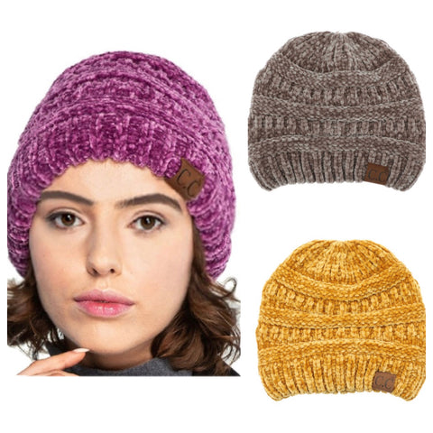 Crazy Soft Classic Fit Chenille CC Beanie