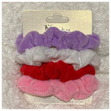 Set of 4 Minky Hair Scrunchies