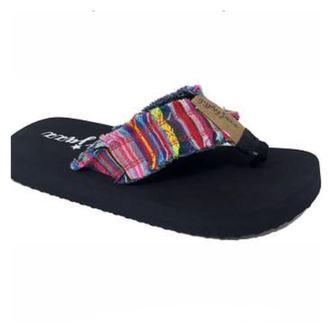 Gypsy Jazz Serape Frayed Edge Flip Flop, Sandals
