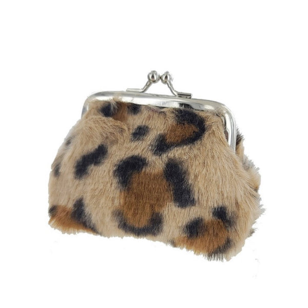Adorable Leopard Fur Coin Purse