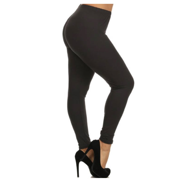 No Peek-a-Boo See Through PLUS Size Black Leggings