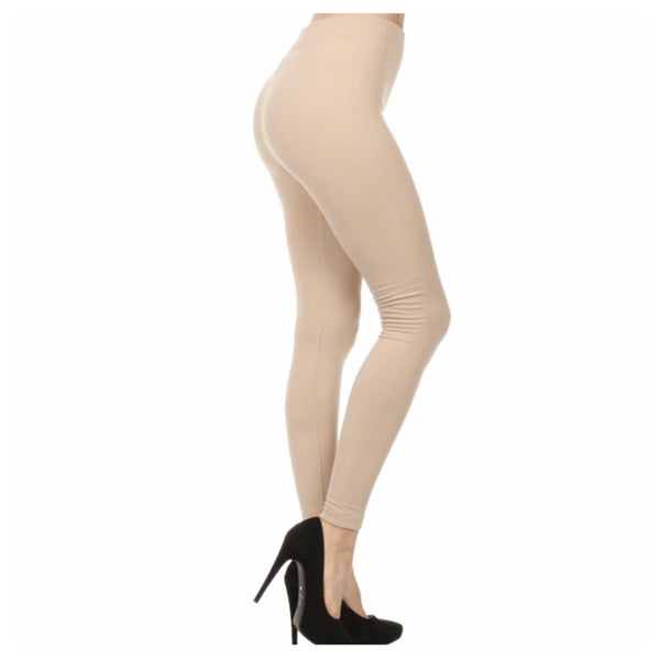 """A Touch of Heaven""  No Peek -a-Boo See Through Khaki Sand Leggings - Cheryl's Galore and More"