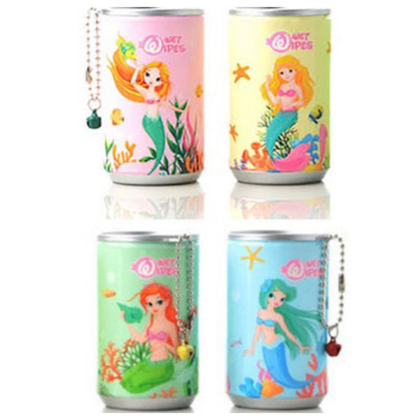 Adorable Mermaid Pop Can Sanitizing Wipes Keychain
