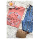 CLOSEOUT! Adorable LOVE THE LIFE YOU LIVE Mauve Top