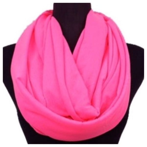 Soft and Smooth Bright Pink Infinity Scarf, Pink, Loop Scarf - Cheryl's Galore and More