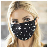 Black Star Face Masks - Covid 19