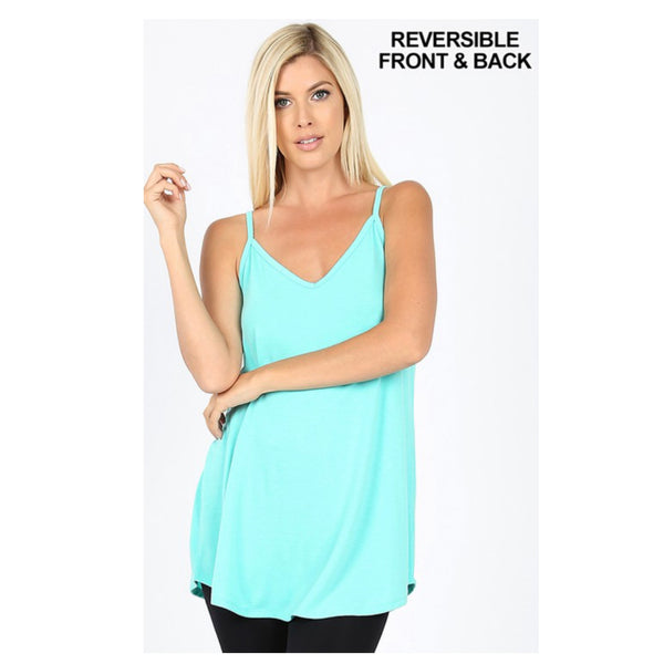 CLOSEOUT! Adorable Reversible Swing Cami Tank - Mint