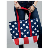 American Pride Stars and Stripes Ruggine Tote Bag
