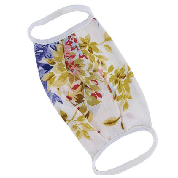 Keeping it Fashionable - White Floral Face Masks - Covid 19