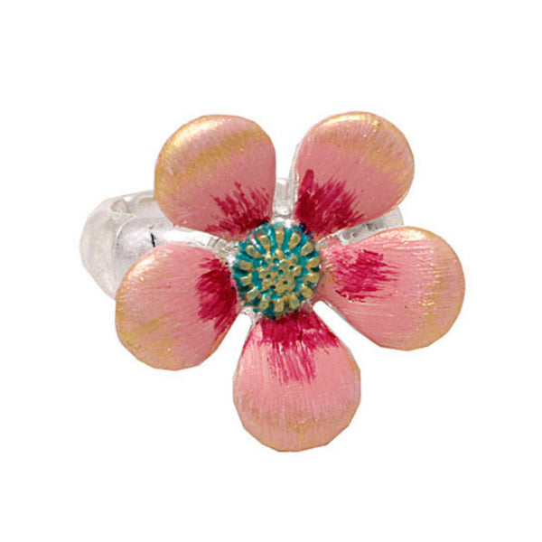 Adorable Pink Wildflower Stretch Ring