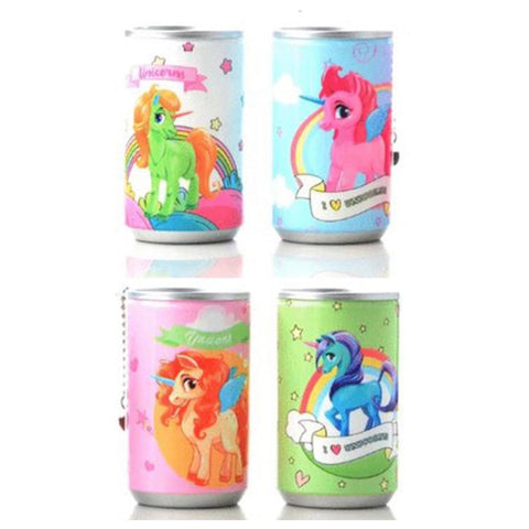 Adorable Unicorn  Pop Can Sanitizing Wipes Keychain