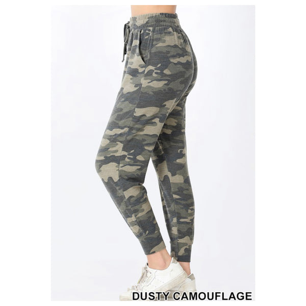 Regular and Plus Size Camouflage Jogger Sweatpants