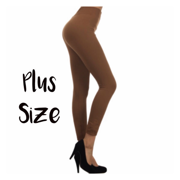 No Peek-a-Boo See Through Plus Size Mocha Leggings